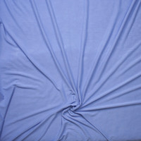 Sky Blue Brushed Poly/Modal Jersey Knit Fabric By The Yard - Wide shot