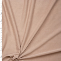 Tan Brushed Poly/Modal Jersey Knit Fabric By The Yard