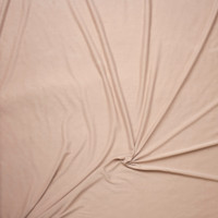 Tan Brushed Poly/Modal Jersey Knit Fabric By The Yard - Wide shot