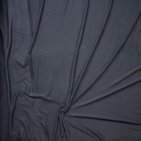 Charcoal Brushed Poly/Modal Jersey Knit Fabric By The Yard - Wide shot