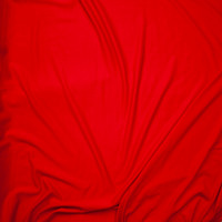 Red Lightweight Poly/Rayon French Terry Fabric By The Yard - Wide shot