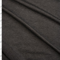 Charcoal Heather Lightweight Poly/Rayon French Terry Fabric By The Yard