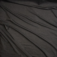 Charcoal Heather Lightweight Poly/Rayon French Terry Fabric By The Yard - Wide shot