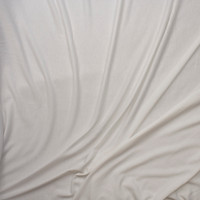White Lightweight Poly/Rayon French Terry Fabric By The Yard - Wide shot