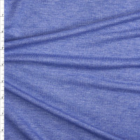 Heather Blue Lightweight Poly/Rayon French Terry Fabric By The Yard