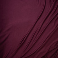 Deep Wine Stretch Lightweight Poly/Rayon French Terry Fabric By The Yard - Wide shot