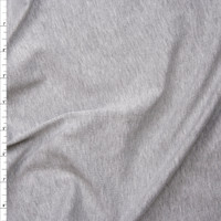 Heather Grey Light Midweight Stretch Cotton Jersey Knit Fabric By The Yard