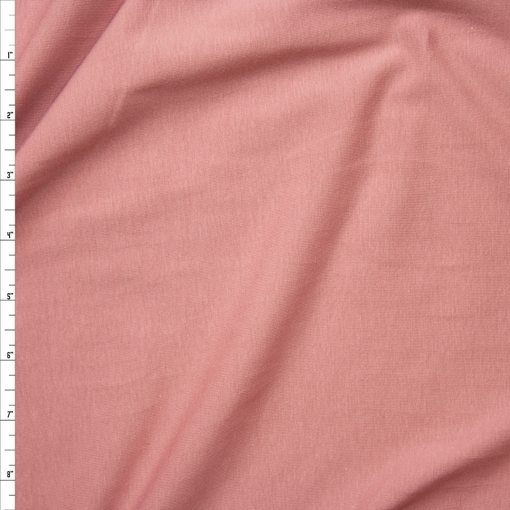 Dusty Rose Light Midweight Stretch Cotton Jersey Knit Fabric By The Yard