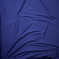 Navy Blue Light Midweight Stretch Cotton Jersey Knit Fabric By The Yard - Wide shot