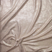 Gold Grunge on Light Tan Liverpool Knit Fabric By The Yard - Wide shot