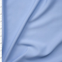 Light Blue Solid Braided Look Liverpool Knit Fabric By The Yard