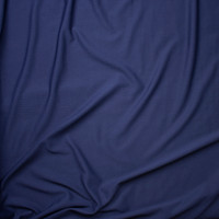 Navy Blue Solid Braided Look Liverpool Knit Fabric By The Yard - Wide shot