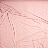 Blush Heather Double Brushed Poly Spandex Fabric By The Yard - Wide shot