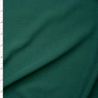 Solid Hunter Green Braided Texture Liverpool Knit Fabric By The Yard