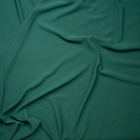 Solid Hunter Green Braided Texture Liverpool Knit Fabric By The Yard - Wide shot
