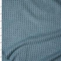 Teal Grey Soft Waffle Knit Fabric By The Yard