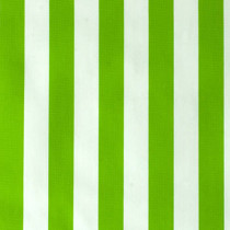 Stripes Green and White Oilcloth