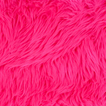 Neon Pink Shag Faux Fur