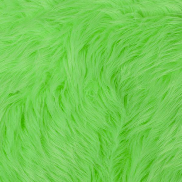 Neon Green Shag Faux Fur
