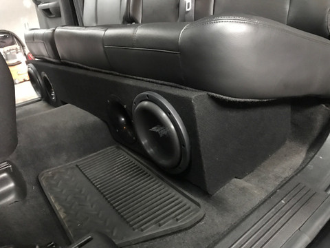 F150 Double Cab >> Ported sub box 2007-2013 Chevy Silverado Extended Cab truck