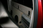 SUB BOX W/Amp Rack 1999-2007 FORD F250 F350 SUPER DUTY CREW CAB