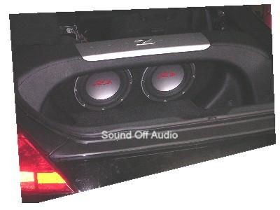 nissan 350z 2003 2009 dual sub box sound off audio, inc