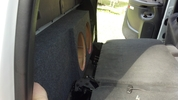 Dual Sub Box (behind rear seat)2001-2006 GM SIERRA HD CREW