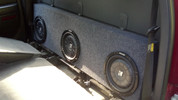 Triple Sub Box 2003-2006 GM Sierra 1/2 Ton Crew
