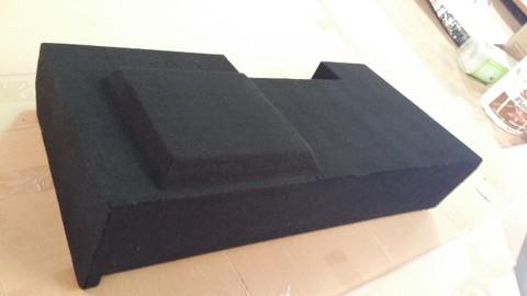 Single sub box fits under rear seat on passenger side of 2014 CHEVY SILVERADO 1500 (1/2 TON) CREW