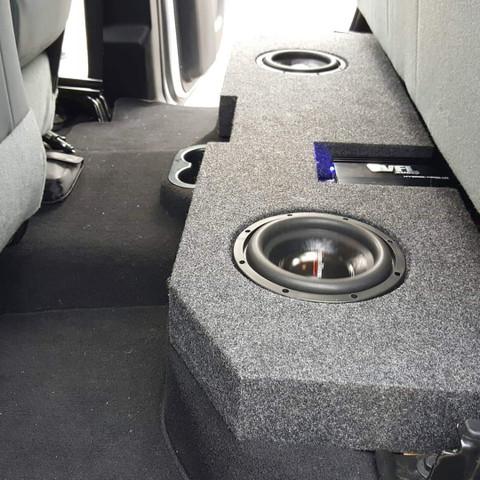 New Deep Sub Box 2002 2018 Dodge Ram Quad Crew Dual Sub