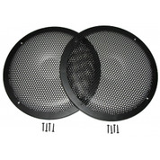 "THESE GRILLES WORK VERY WELL WITH WOOFERS UNDER 12.5"" WIDE. PLEASE CALL ME IF YOU HAVE QUESTIONS."