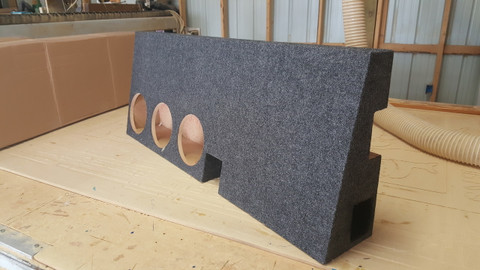 "TACOMA DOUBLE CAB VENTED BOX FOR 3 8"" WOOFERS"