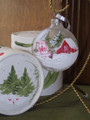 Handpainted Ornament - Barn w/ Quilt