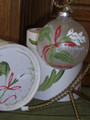 Handpainted Ornament - Callalilies w/ Ribbons & Greens