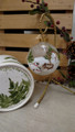 Handpainted glass Christmas glass ball with coordinating handpainted gift box.  Handpainted is a sweet little shepherd snowman tending his lambs and in awe of the Child in the manger.....message....Good tidings of great Joy!