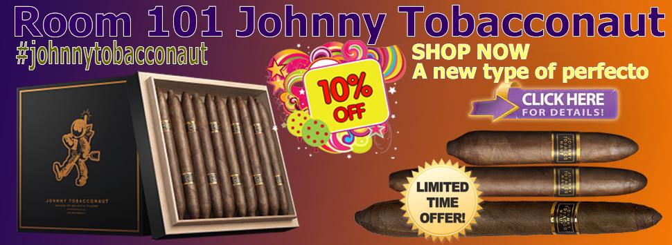 10% off Room 101 Johnny Tobacconaut