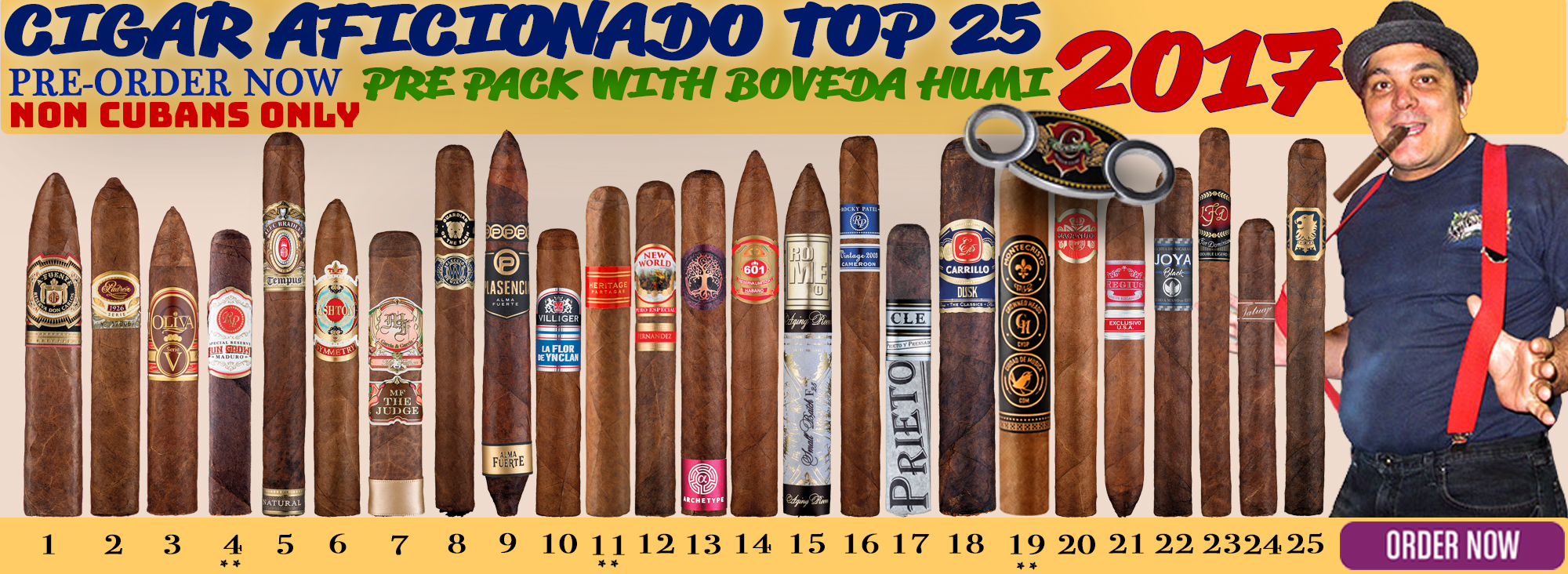 2017 Cigar Aficionado Top 25
