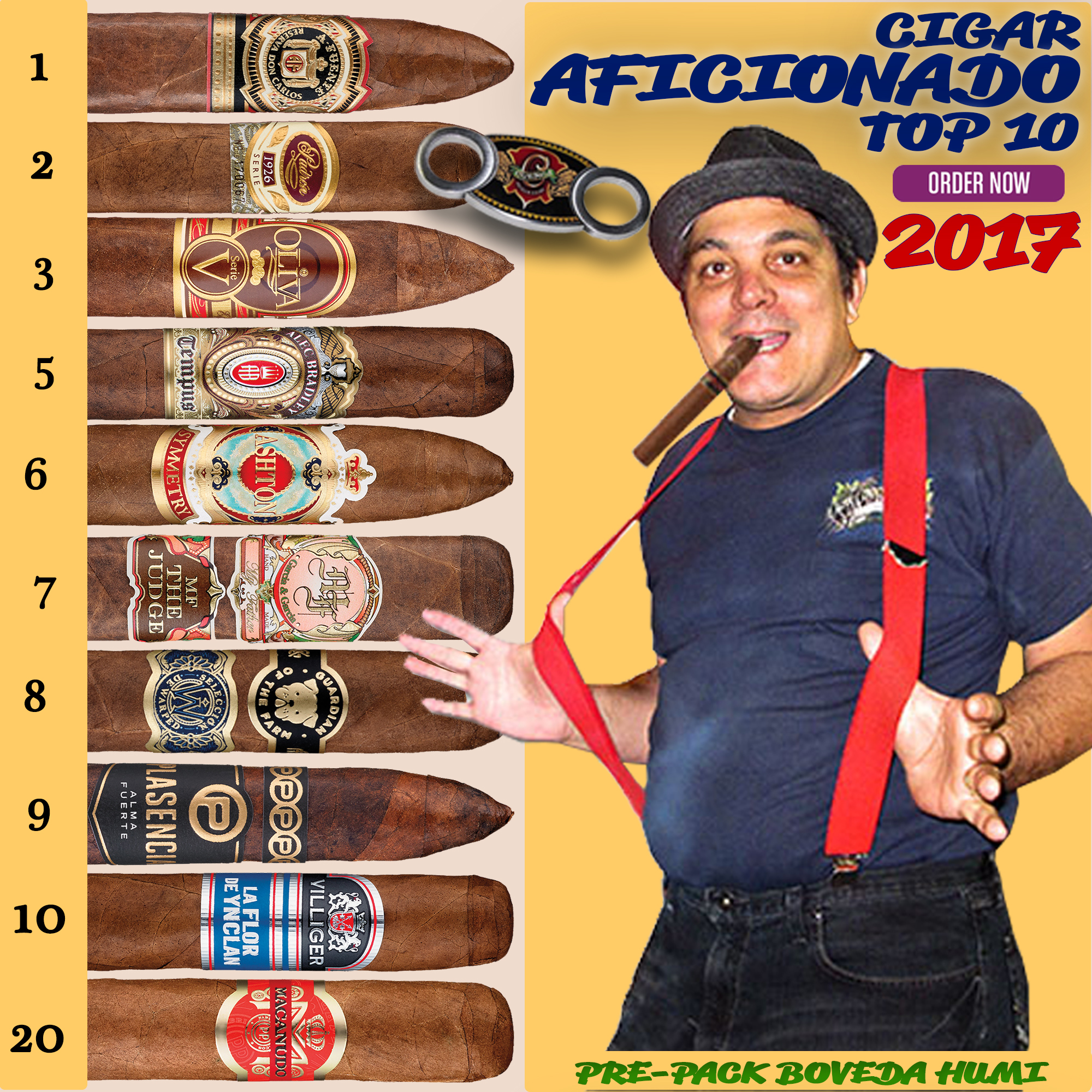 2017 TOP 10 CIGARS BY CIGAR AFICIONADO
