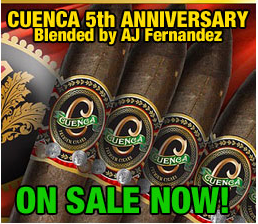 cuenca 5 anniversary cigars on sale