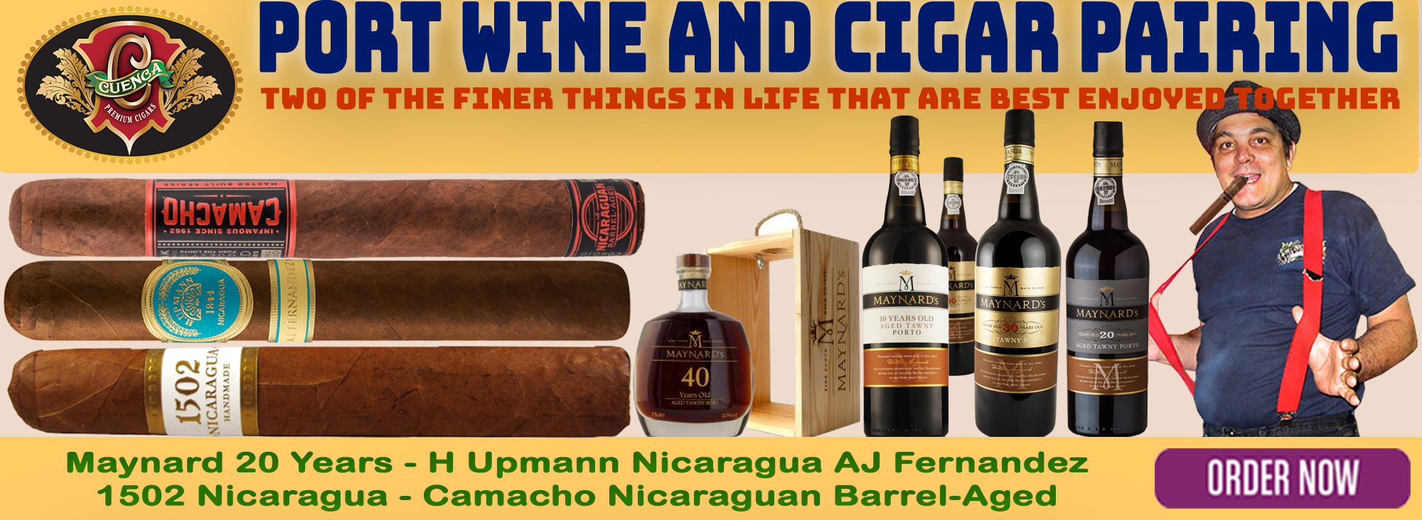 Port Wine and Cigar Pairing: Maynard 20 Years
