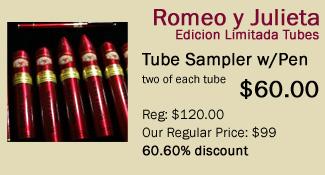 romeo y julieta edicion limitada sampler