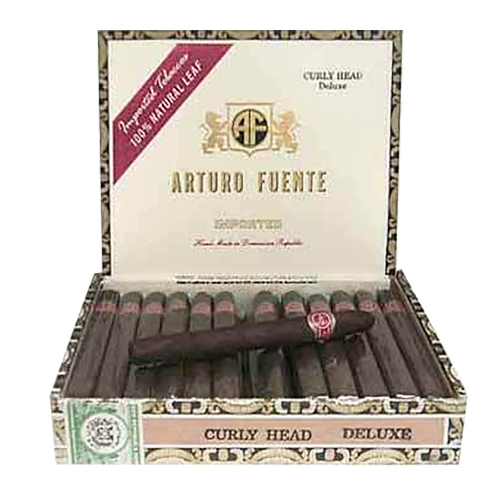 Arturo Fuente Curly Head Deluxe Cigars - Maduro Box of 25