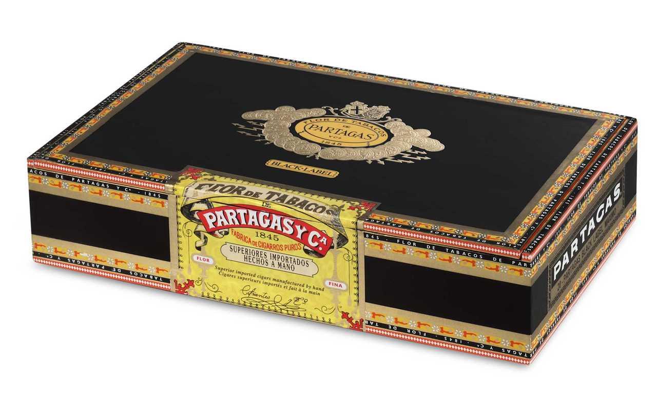 Partagas Black Label Maximo Tubo Cigars - Dark Natural Box of 20