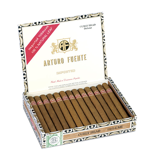 Arturo Fuente Curly Head Deluxe Cigars - Natural Box of 25