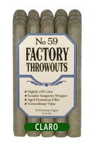 Factory Throwouts #59 Cigars - Claro Bundle of 20