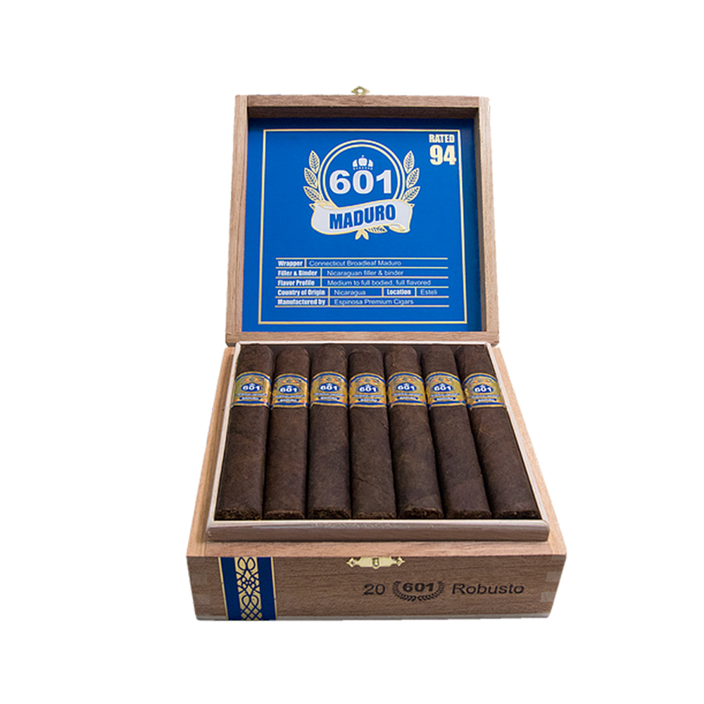 601 Blue Label Torpedo Cigars - Maduro Box of 20