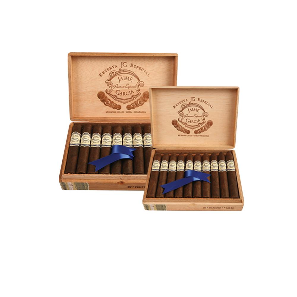 Jaime Garcia Reserva Especial Petit Robusto Cigars - Maduro Box of 20