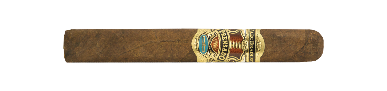 Shop Now Alec Bradley Prensado Corona Gorda Cigars - Natural Box of 20 --> Singles at $9.30, 5 Packs at $39.53, Boxes at $151.99