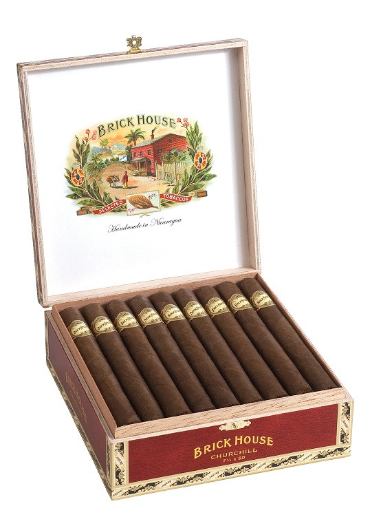Shop Now Brick House Churchill Cigars - Natural Box of 25 --> Singles at $5.75, 5 Packs at $27.00, Boxes at $136.86