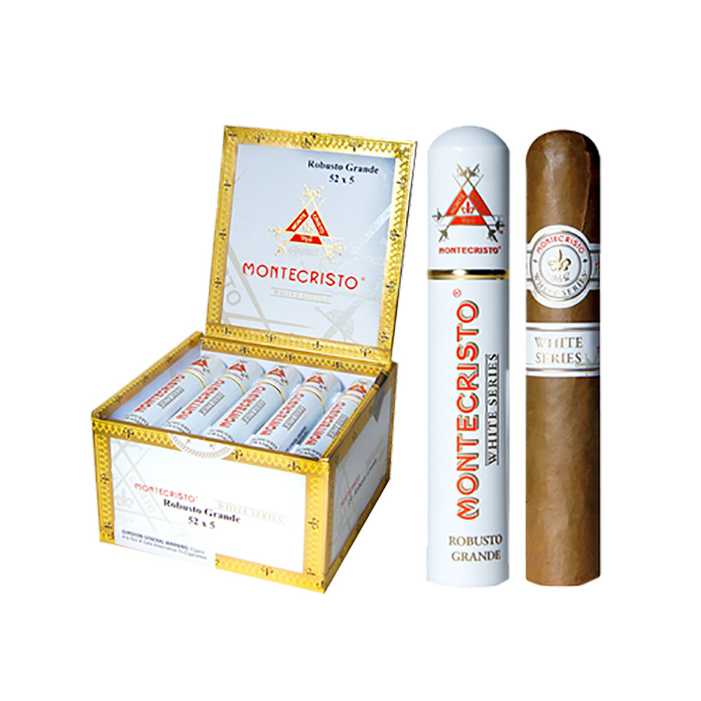 Montecristo White Court Tube Cigars - Natural Box of 15